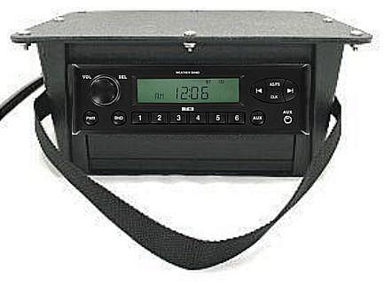 Portable 24 volt stereo system
